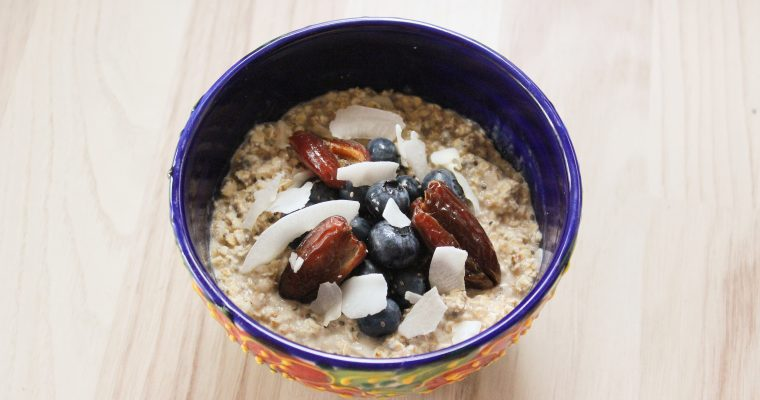 Cold Banana Cinnamon Oatmeal