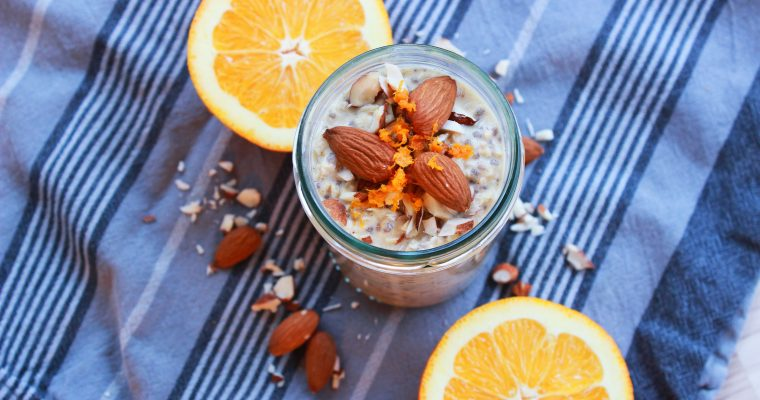 Orange Almond Overnight Oats