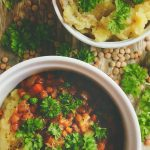 Carrot, Pea, and Green Lentil Stew