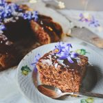 cinnamon cake with cocoa icing