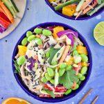 Chopped Soba Noodle Salad with Sesame Orange Tahini Dressing (GF + Nut-Free)
