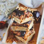 No-Bake Peanut, Caramel, and Chocolate Slices