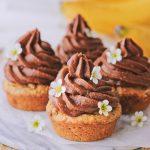 Banana Cupcakes with Sweet Potato Chocolate Frosting (GF + Refined Sugar-Free)